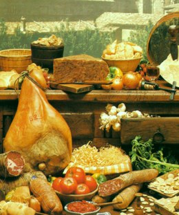 photo typical foods of Parma